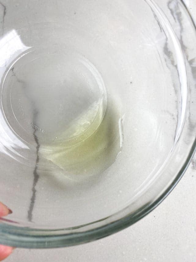 watery egg white left over from draining