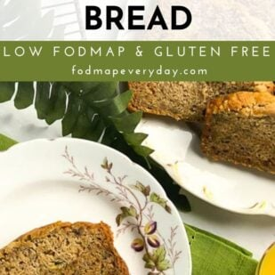 Low FODMAP Zucchini Banana Bread