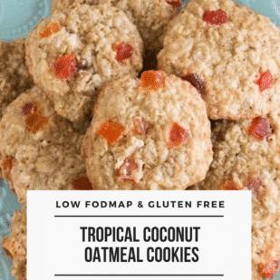 Low FODMAP Tropical Coconut Oatmeal Cookies