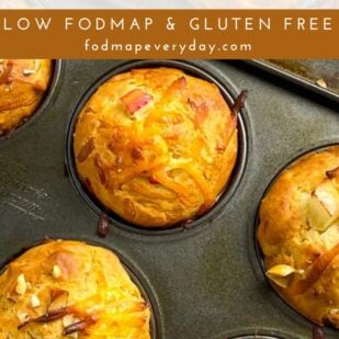 Low FODMAP Smoked Gouda Apple Muffins