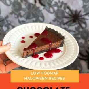 Low FODMAP Chocolate Caramel Tart