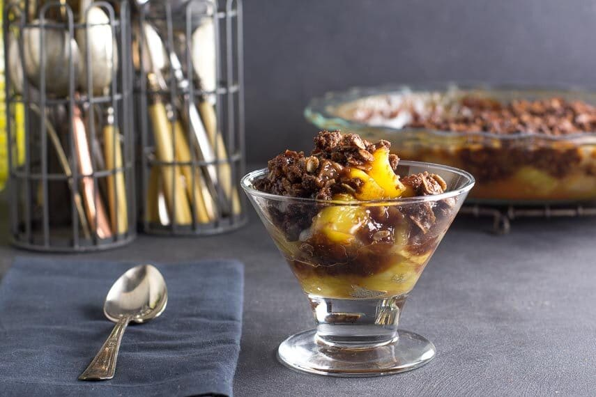 low-FODMAP-Tropical-Crisp-with-chocolate-crisp-topping
