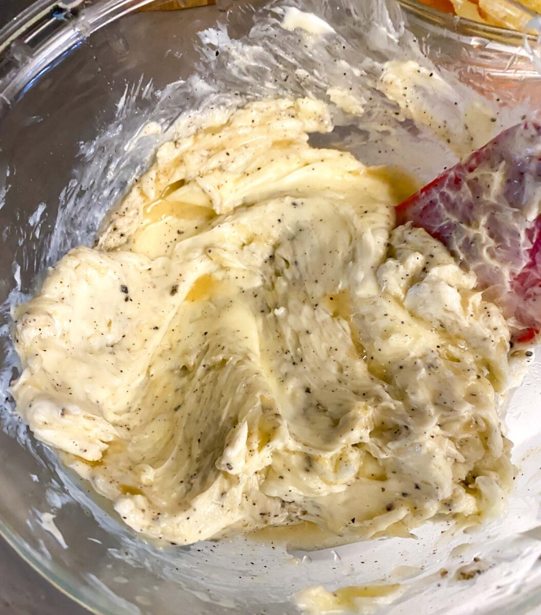 Seasoning butter for slathering on a turkey.