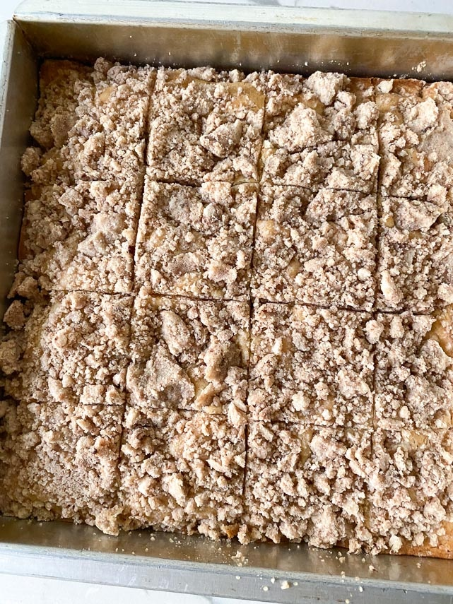 coffee cake in square pan but into 16 squares