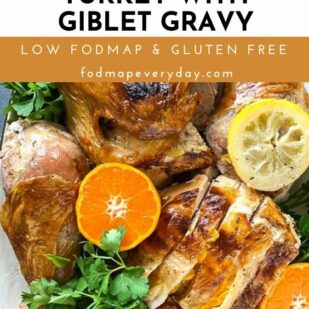 Spatchcocked Low FODMAP Citrus Brined Turkey