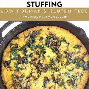 Low FODMAP Mushroom Kale Cornbread Stuffing