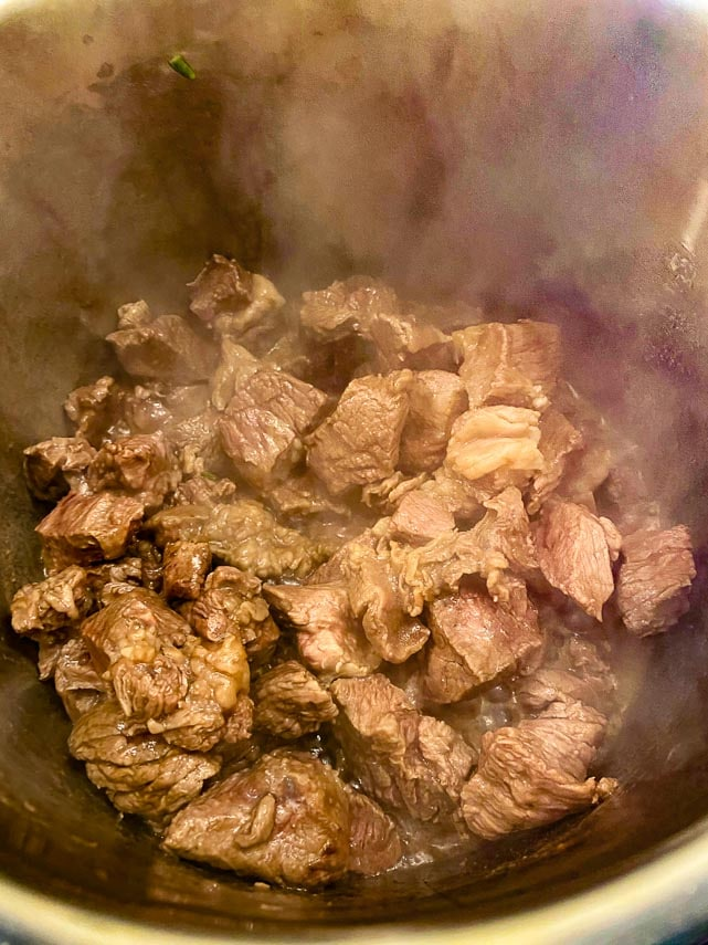 browning-beef-cubes-in-Instant-Pot