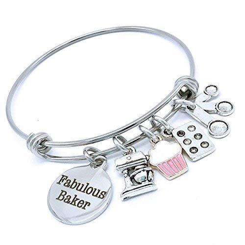 cup cake bangle bracelet
