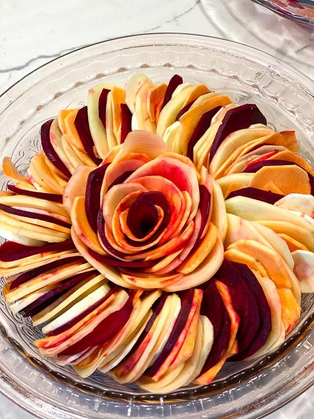 root-vegetable-tian-in-round-dish-before-baking
