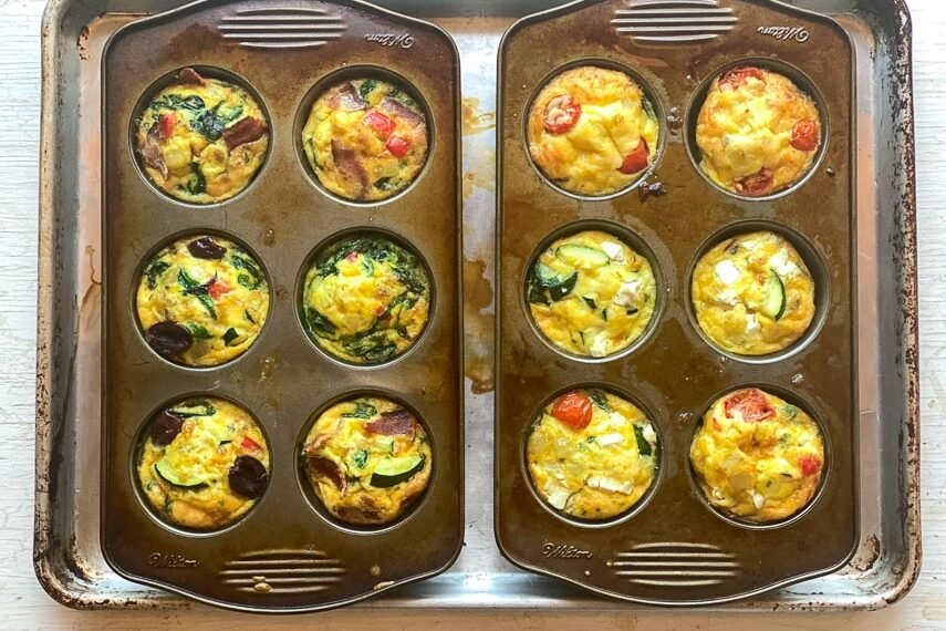 overhead-image-of-low-FODMAP-mini-frittatas-Your-Way-in-muffin-tins