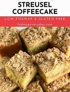 Low FODMAP One-Bowl Streusel Coffeecake