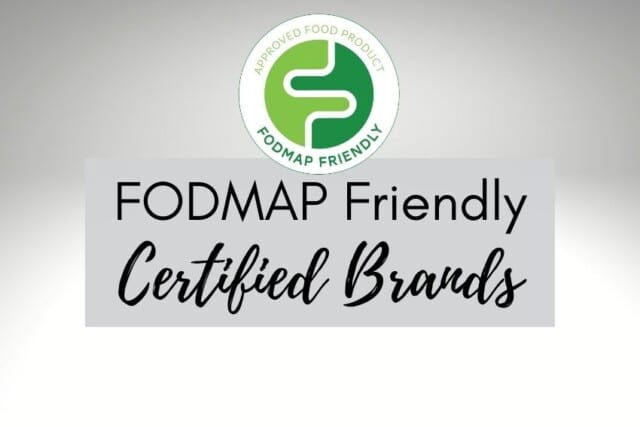 FODMAP Friendly Low FODMAP Certified