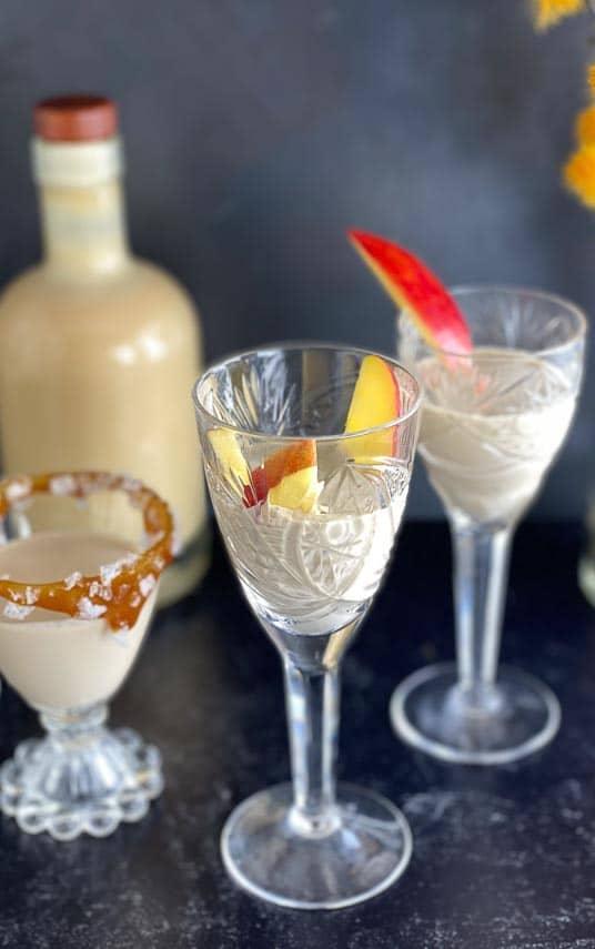 salted-caramel-apple-liqueur-in-stem-glasses