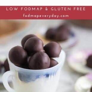 Low FODMAP Chocolate Dipped Truffles
