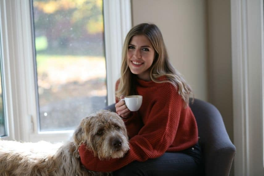 Julia Celestini and her dog