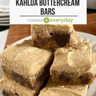 Low FODMAP Chocolate Chunk Kahlua Buttercream Bars