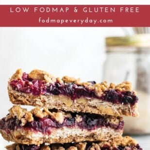 Vegan Low FODMAP Fruit Crumble Bars
