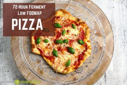 72-hour ferment Low FODMAP Pizza graphic