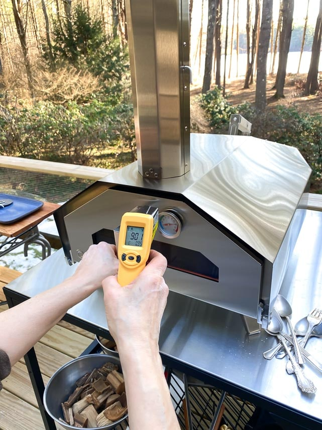 901 F temperature on infrared thermometer
