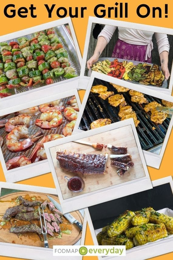 Get Your Grill On - collection of polaroid photos of grilled food