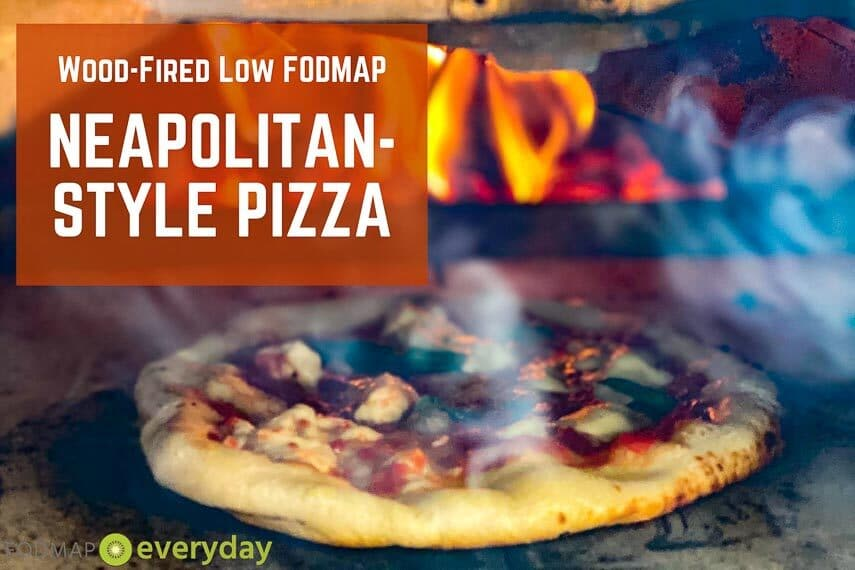 Graphic wood-fired low FODMAP Neapolitan-Style Pizza with live flame-page-001