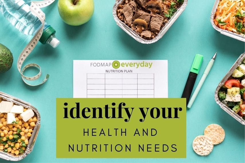 Identify Your Health and Nutrition Needs
