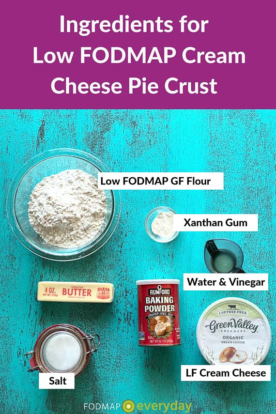 Ingredients for cream cheese pie crust