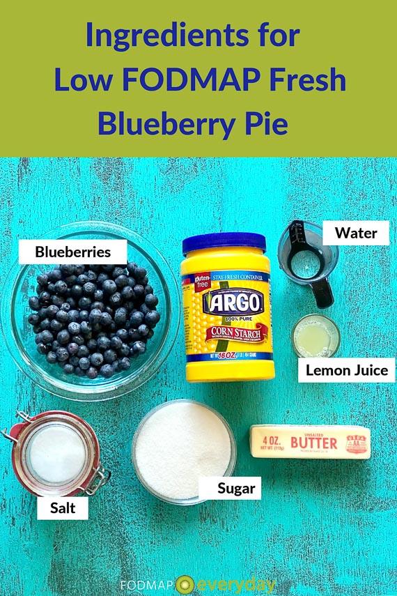 Ingredients fresh blueberry pie