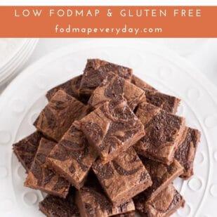 Low FODMAP Nutella Brownies