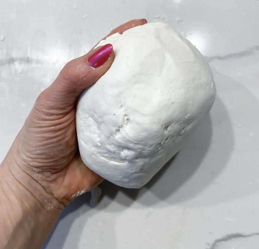 caputo gluten free pizza dough, kneased after rising