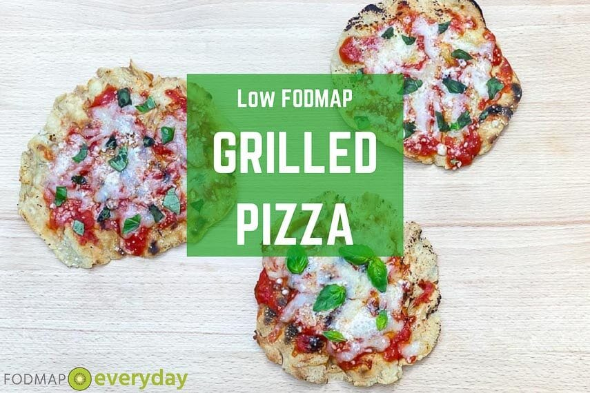 low FODMAP grilled pizza graphic
