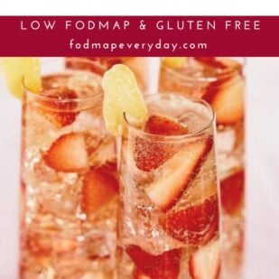 Low FODMAP Strawberry Ginger Fizz