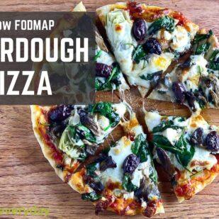Low FODMAP Pizza Sourdough PIzza graphic