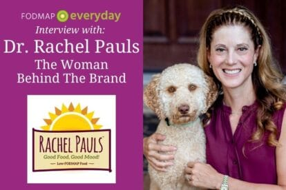 Feature Image for article about Dr. Rachel Pauls - Dr. Pauls with her dog Winston