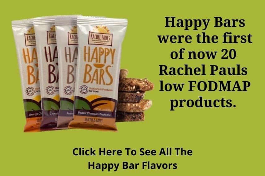 a picture of Rachel Pauls low FODMAP happy bars