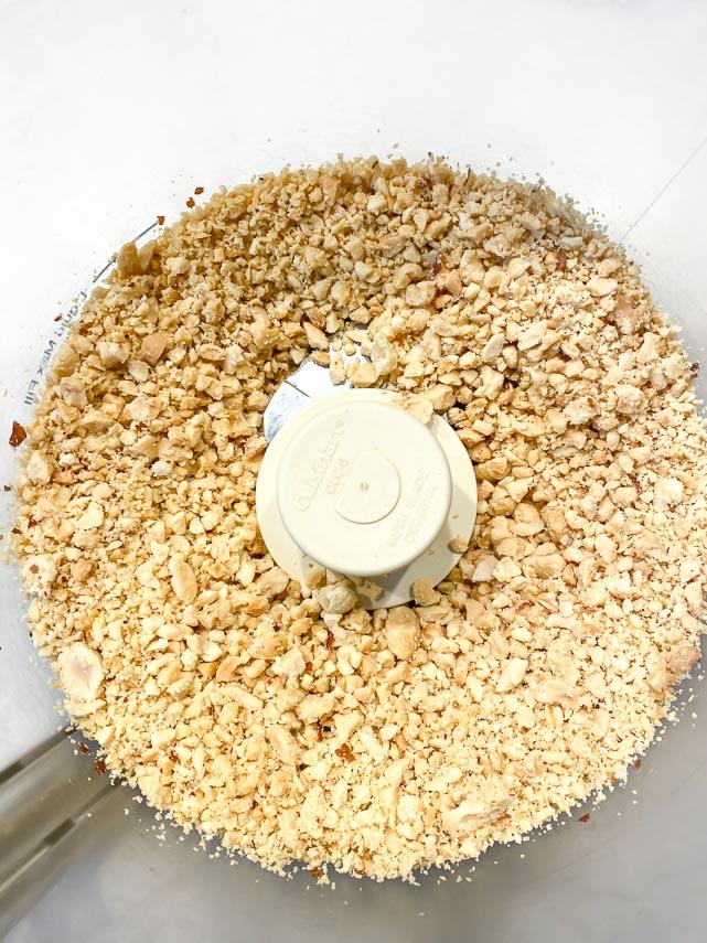 fresh peanuts ground in food processor