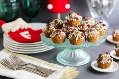 Closeup of Low FODMAP Miniature Gingerbread Muffins