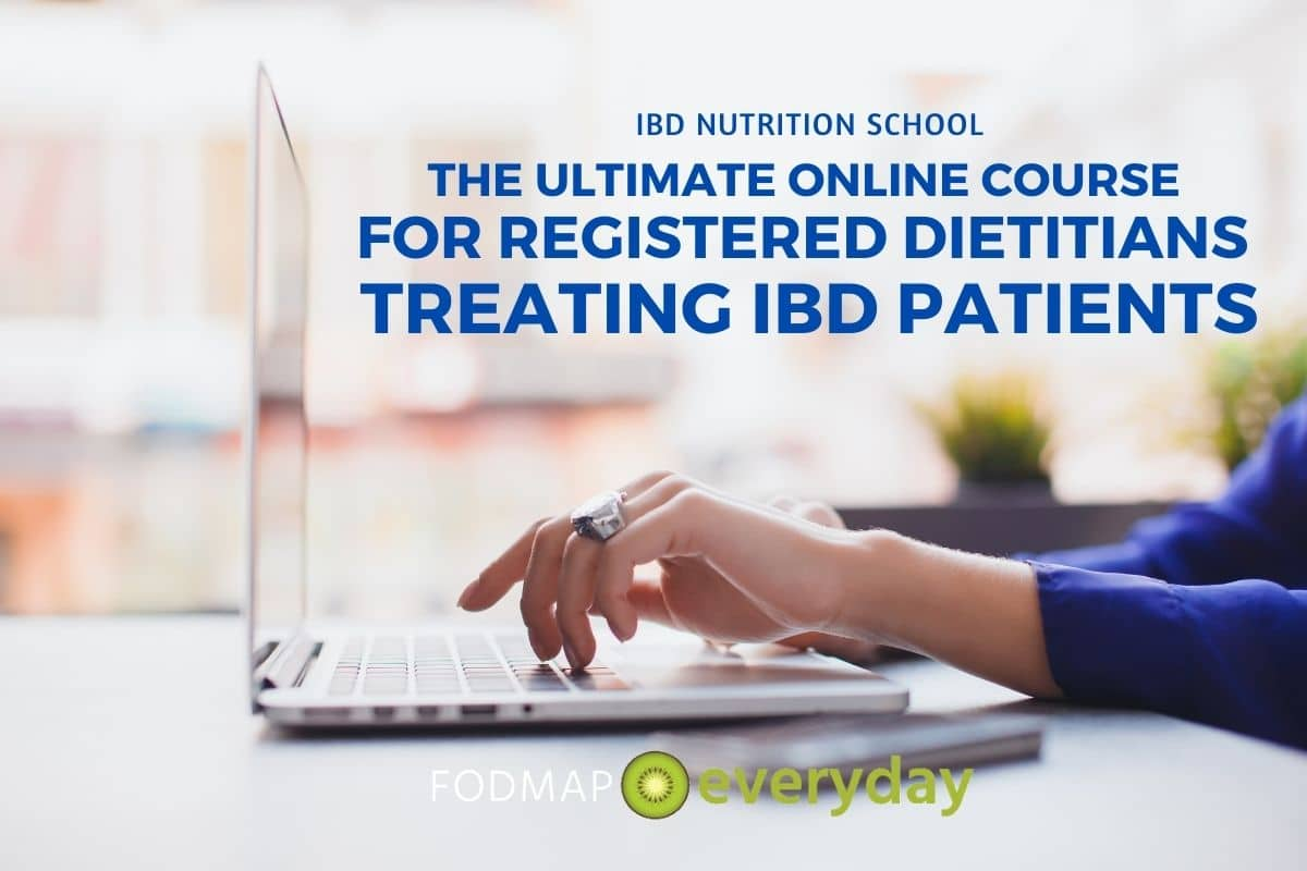 Side view of woman's hands as she types on a lap top computer as she takes the online IBD course.